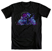 WeLoveFine Nightmare Moon Silhouette Shirt